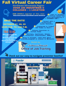 Fall 2020 Virtual Career Fair Flyer