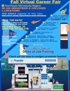 Fall 2020 Virtual Career Fair flyer